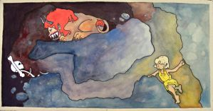 Cave Painting: Maneater by frigga