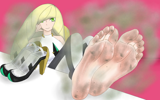 Lusamine's Feet After Work by BSFLove