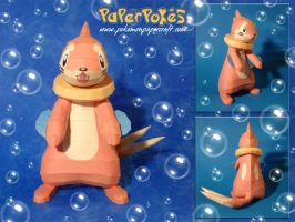 Buizel Papercraft by Lyrin-83