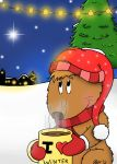 Wickley Wombat in the snow by MagicalMerlinGirl