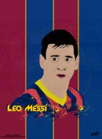 Messi Vector Poster by napolion06