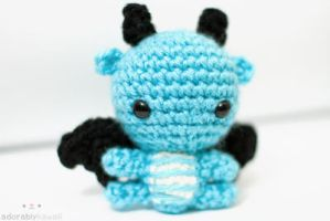 mini blue dragon by tinyowlknits