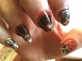 Death Note nail art -left- by RyuzakiLivesOn