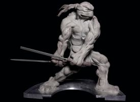 Leonardo tmnt Statue by Danwhitedesigns