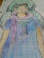 Miku Miku -Paper drawing by sunshine12313