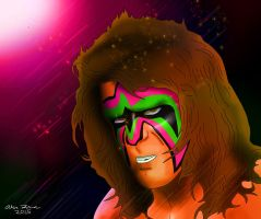 Ultimate Warrior Drawing by AllenThomasArtist