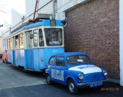 Tram and a Police Car Formerly by ordinarygirl1