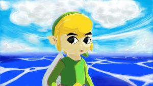 Miiverse: Link from: Wind Waker HD by El-Tezcatlipoca