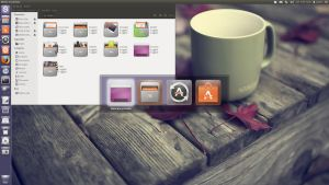 Ubuntu 12.04 LTS with my-humanity icon set by Magog64