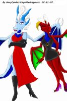Anthro Trinity and Lucia by SexyCynder