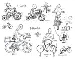 Draw People on Bicycles and Tricycles by Diana-Huang