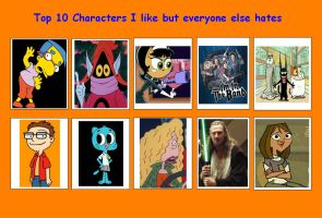 10 Characters I Like but Everyone Else Hates 02 by SithVampireMaster27
