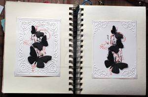 sketchbook pages 34 + 35 by lonesomeaesthetic
