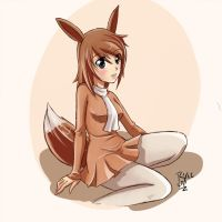 Eevee girl by erohd