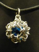 blue fairiy ball double cage by BacktoEarthCreations