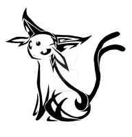 .:Tribal Espeon:. by MagicaITrevor
