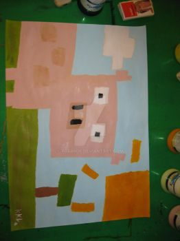 one pig from minecraft by TGerror