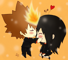 Commission : Tsuna x Yuki by ReversingHalo
