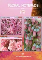 Floral Notepads | .png by CeciiDeRose