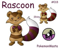Rascoon 018 by PokemonMasta