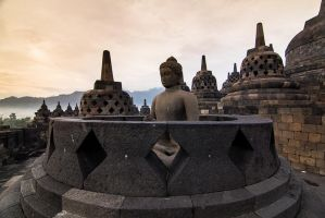 Buddha at Borobodur Temple by Noah0207