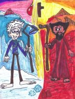 Jack Frost and Moses by SonicClone