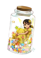 bottled fairy by meago