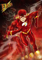 Flash running by DarkKnight81