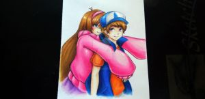 Mabel and Dipper [Anime Version] by seiji0