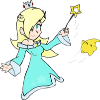 Rosalina y destello Super Smash Bros For Wii U by RobyApolonio