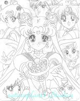 Eternal Sailor Moon and gang 2 by saturnplanet