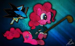 Pinkie Pie Loves the Sharks! by iamthemanwithglasses
