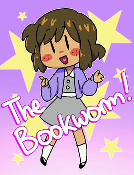 The Bookworm! (she floats :0) by 8Otakutalia8