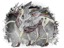 Ritual Dragon- Devourer of Doves by MechanicPigeon