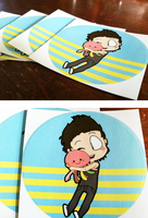Austin and Squidgy stickers by shaolinfeilong