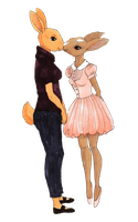 transparent bunny smooches by MommaCabbit