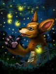 Little Foxy and the Fireflies by The-Dreaming-Dragon