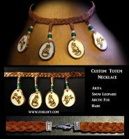 Four Pendant Totem Necklace by Foxfeather248
