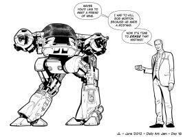 ED-209 -June '12 Daily Art Jam- Day 18 by JeremiahLambertArt