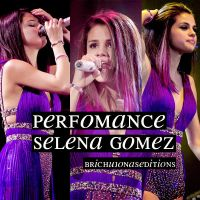 Perfomance Selena Gomez. by BrichuJonasEditions