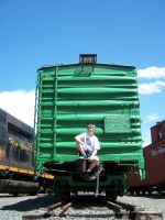 Green boxcar and a Knucklehead by Sampug394