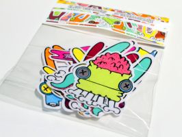 BUNNY BUTTONS stickerpackage by ELECTRICPOPPERS