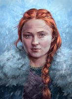 Sansa Stark of Winterfell Game of Thrones Fanart by Tobiarts-and-Design
