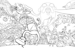 Adventure Time - Inks by Zombie-Graves