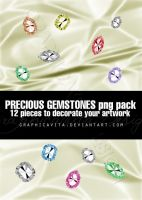 Precious Gemstones PNG PACK by graphicavita