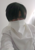 SnK: Levi cleaning cosplay by themuffinshota