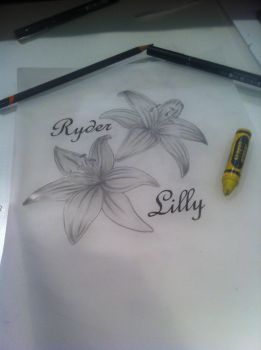 Lilly tattoo design by KariCliche