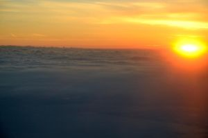 Sunset From Above The Clouds by lamorth-the-seeker