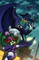 DarkWing and QuiverWing by anubis2kx