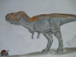 JP-Expanded T-rex morph by Teratophoneus